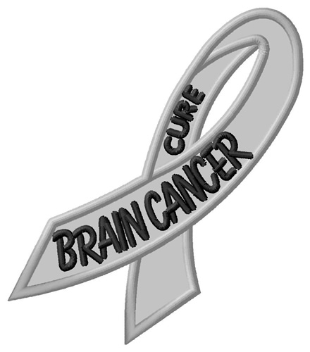 Brain Cancer Embroidery Designs
