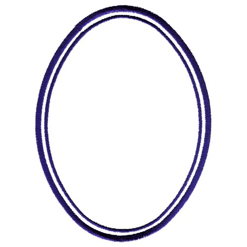 oval frame design. Double Oval Frame Embroidery Design Oval Frame A