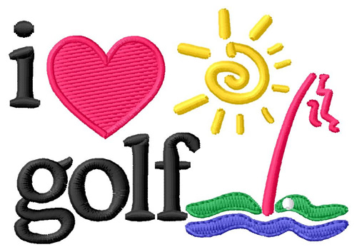I Love Golf Embroidery Designs Machine Embroidery Designs At
