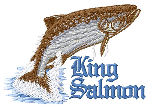 King Salmon Embroidery Designs Machine Embroidery Designs At