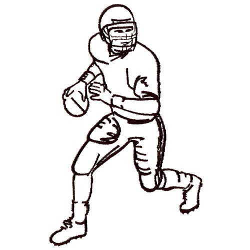 football player outline embroidery designs, machine embroidery
