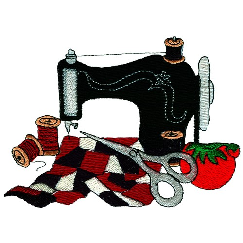 Quilting sewing machine clip art cliparts