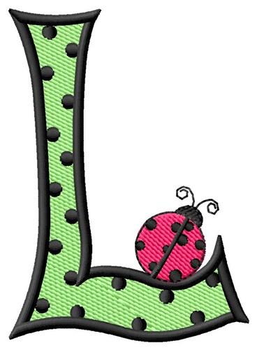 ladybug letter l embroidery design
