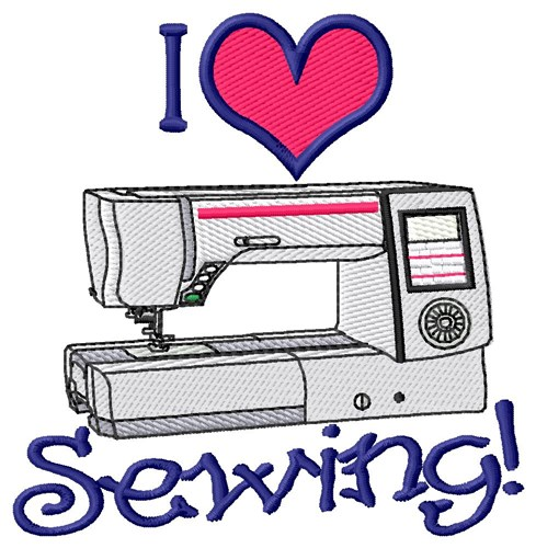 I love sewing embroidery designs machine