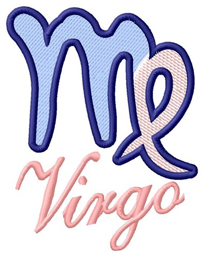Virgo zodiac sign embroidery designs machine
