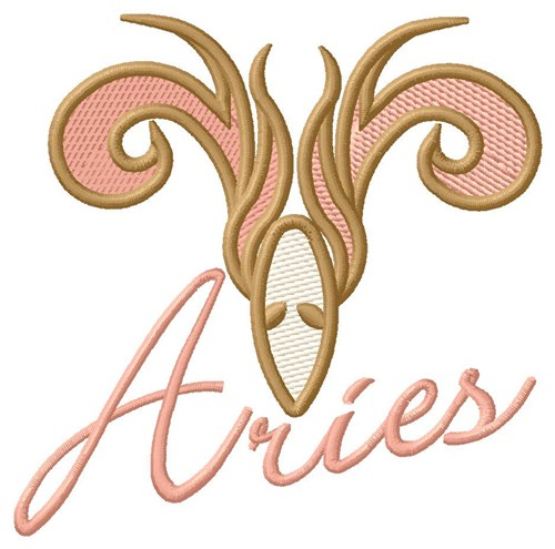 Aries zodiac sign embroidery designs machine