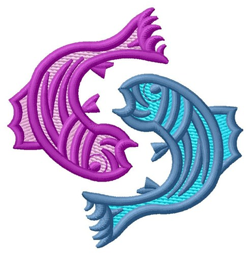 Pisces Fish Embroidery Designs Machine Embroidery Designs At
