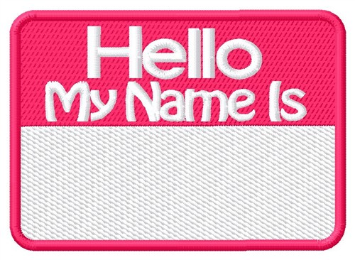 Name Tag Embroidery Designs Machine Embroidery Designs At