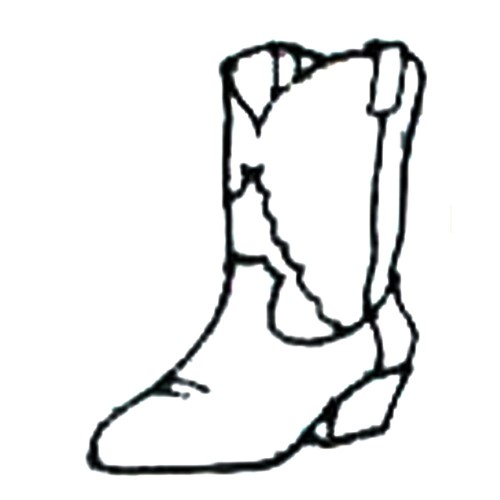 Cowboy boot outline Embroidery Designs, Machine Embroidery ...