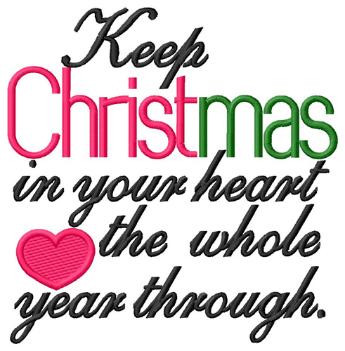 Christmas in your heart embroidery designs machine