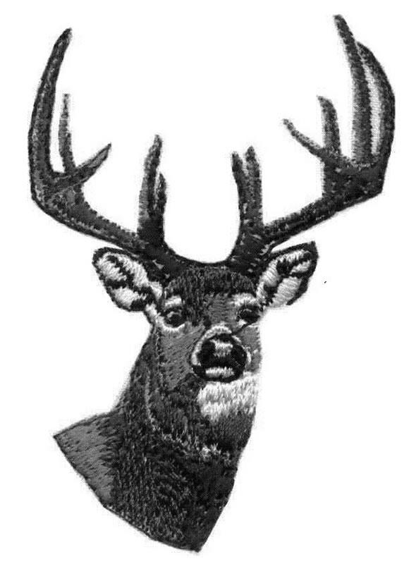 Deer head embroidery designs machine