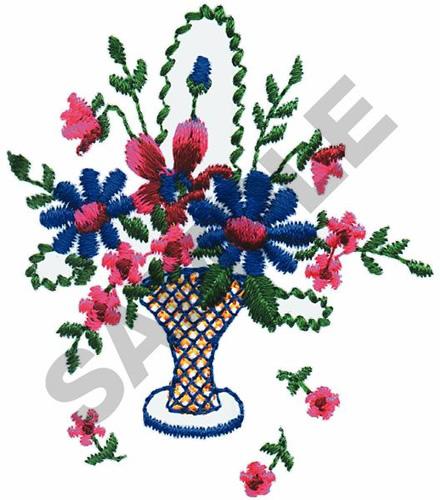 Free Flower Basket Embroidery Designs : Flower basket embroidery designs machine