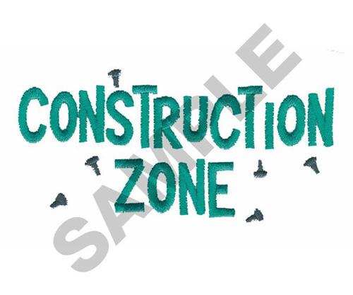 Construction zone embroidery designs machine