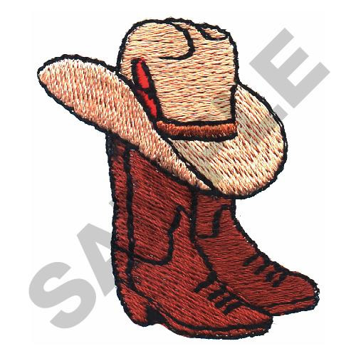 COWBOY HAT AND BOOTS Embroidery Designs Machine ...