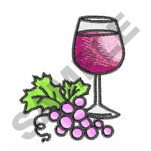 Wine And Grapes Embroidery Designs