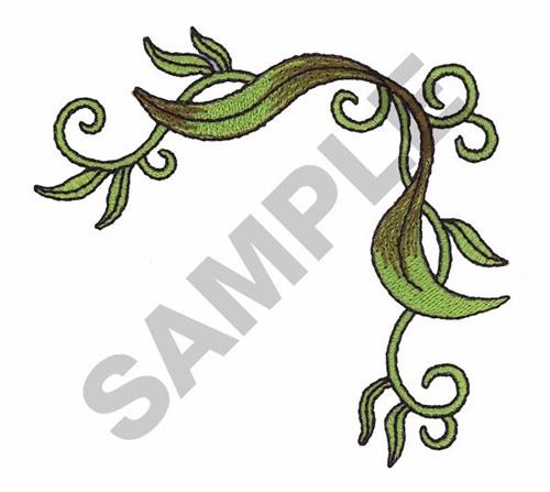 Leaf vine corner border embroidery designs machine