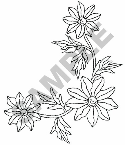 Flower Corner Border Embroidery Designs Machine Embroidery