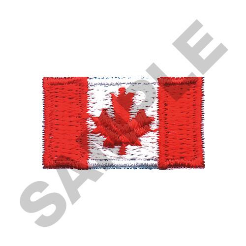 Small canadian flag embroidery designs machine