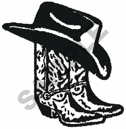 COWBOY BOOTS AND HAT Embroidery Designs, Machine Embroidery ...