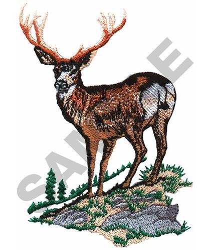 Mule deer buck embroidery designs machine