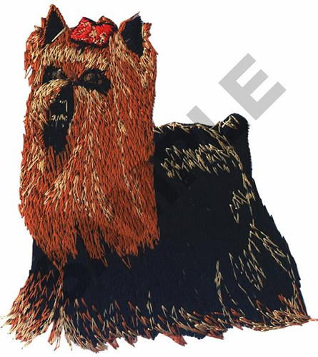 Yorkshire terrier embroidery designs machine