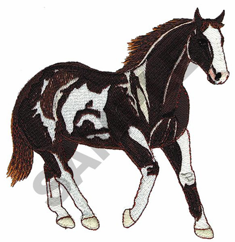 TOBIONO PAINT HORSE Embroidery Designs Machine Embroidery