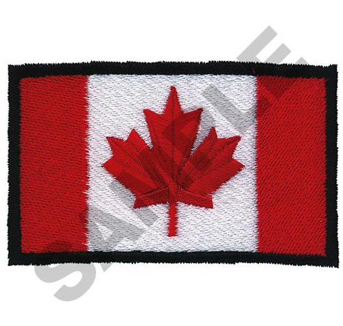 Canada flag embroidery designs machine