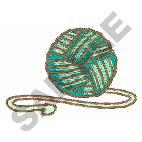 Ball of knitting yarn embroidery designs machine
