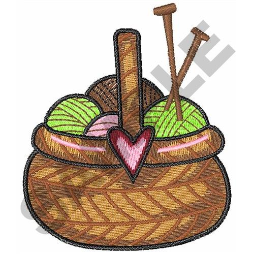 Knitting basket embroidery designs machine