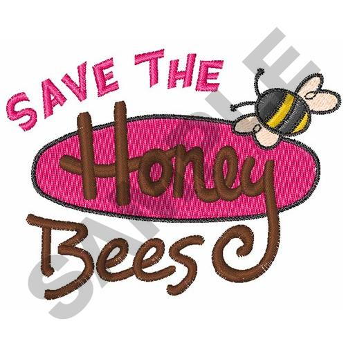 Save the honey bees embroidery designs machine