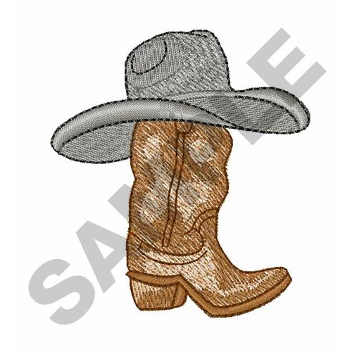 de9bbe40f81 COWBOY HAT ON BOOT Embroidery Designs