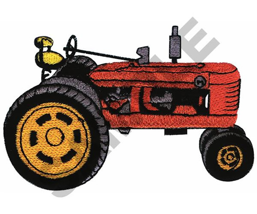 Embroidery Of Tractors : Farm all tractor embroidery designs machine