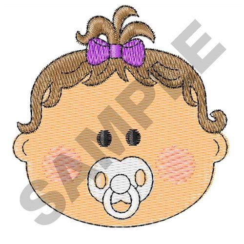 Baby girl face embroidery designs machine