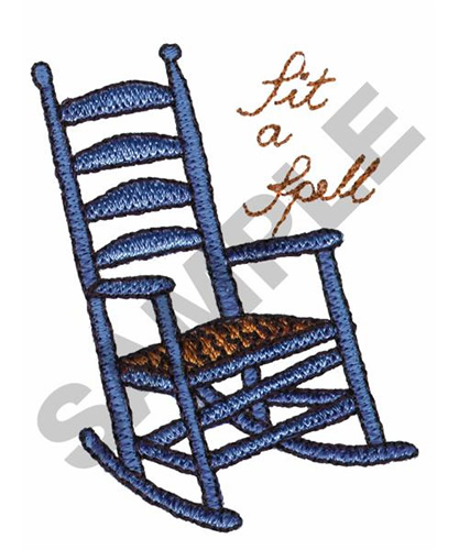 LargeImg  sc 1 st  Embroidery Designs & SIT A SPELL ROCKING CHAIR Embroidery Designs Machine Embroidery ...