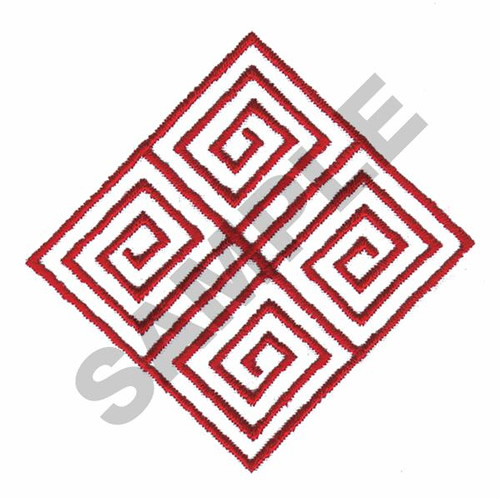 Geometric line art embroidery designs machine