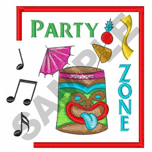 Party zone design embroidery designs machine
