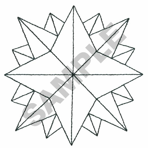 Geometric outline embroidery designs machine