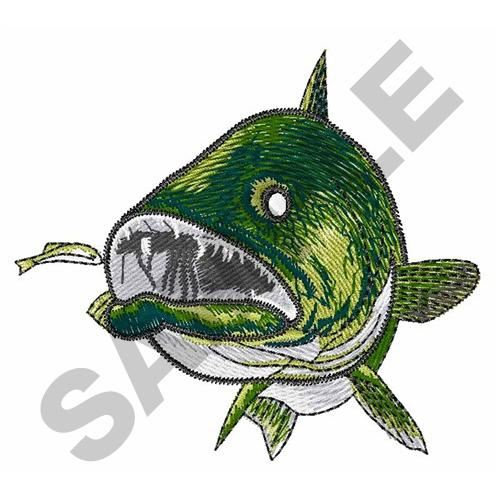 Walleye Front View Embroidery Designs Machine Embroidery Designs At