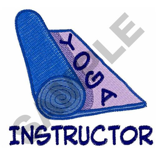 Yoga instructor embroidery designs machine