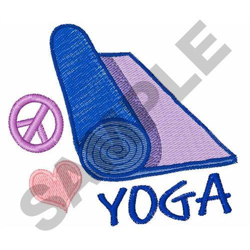 Peace love yoga embroidery designs machine
