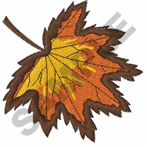 Autumn leaf embroidery designs machine