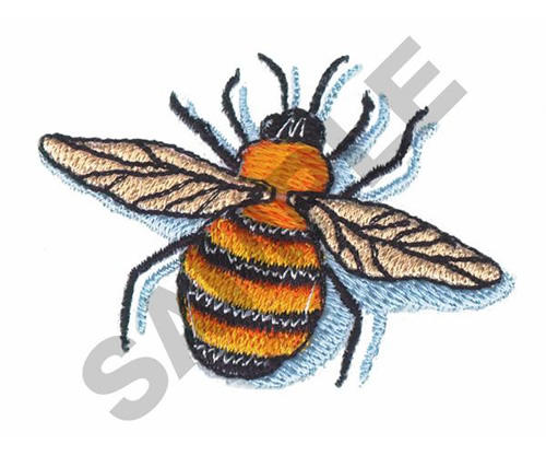 Bee embroidery designs machine at