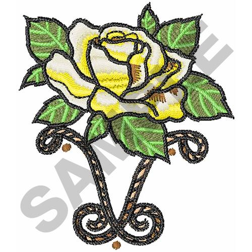 Yellow rose of texas embroidery designs machine