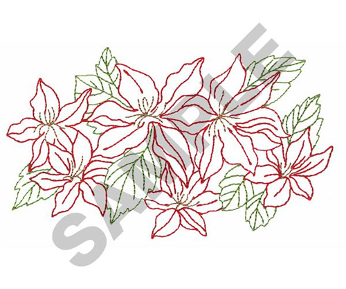 FLOWER OUTLINE Embroidery Designs Machine Embroidery