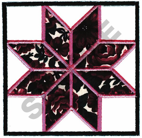 Star Quilt Embroidery Design : STAR QUILT SQUARE APPLIQUE Embroidery Designs, Machine ...