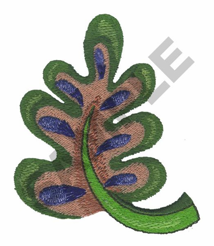 Leaf embroidery designs machine at