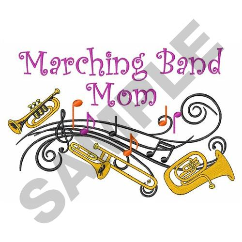 Marching Band Embroidery Design