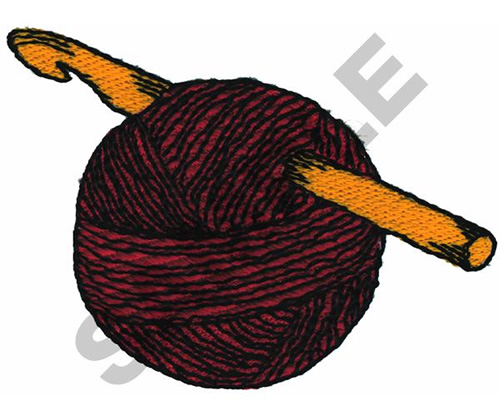 Crochet Hook And Yarn Embroidery Designs Machine Embroidery Designs