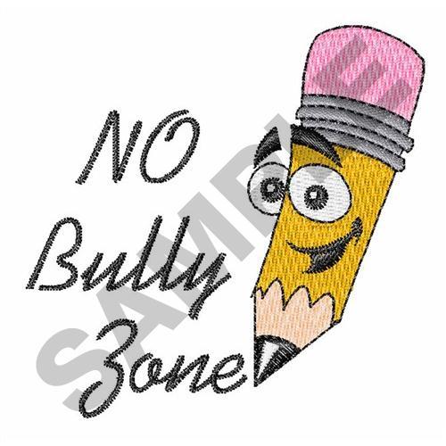 No bully zone embroidery designs machine