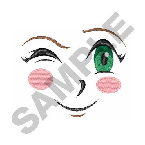 Doll Face Winking Embroidery Designs Machine Embroidery Designs At